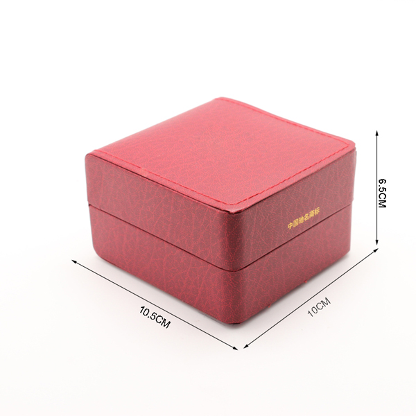 Luxury new design Red watch box with stiching for women