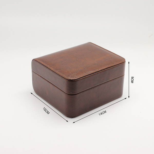 Luxury fashion brown leather watch box for women