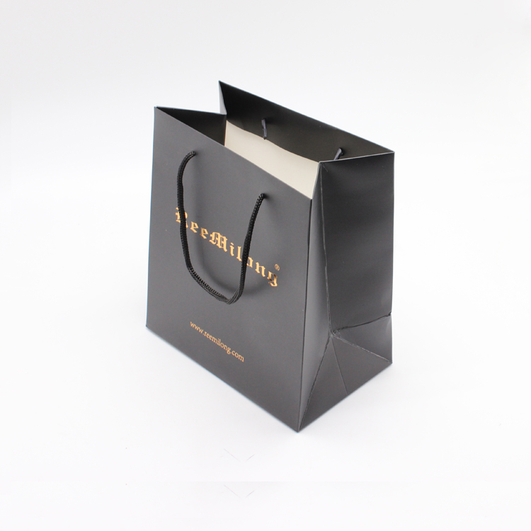 Black paper bag for watch gift
