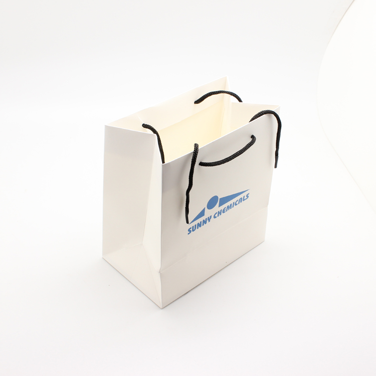 white paper bag for watch gift with your logo