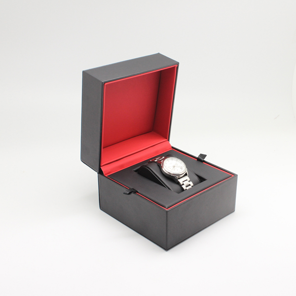 Fashion luxury black and red leather pu watch box for men