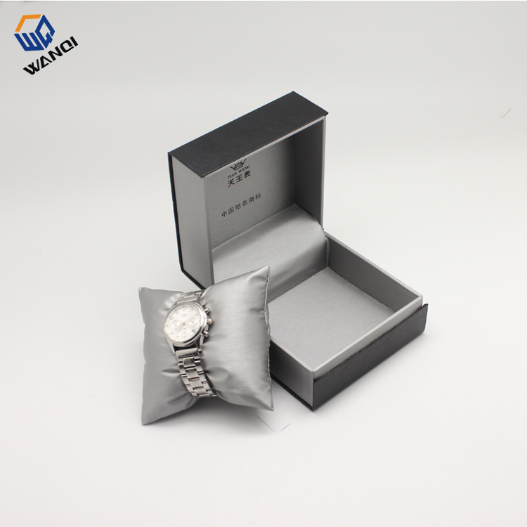 High quality cheap gery paper watch box with pu pillow