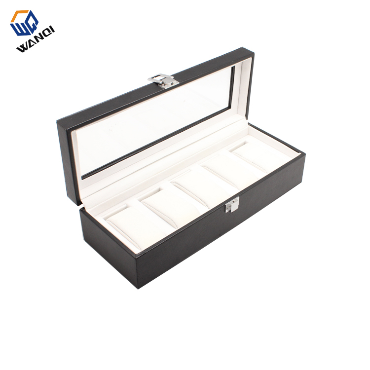 Luxury leather Collection watch box for 5 watches