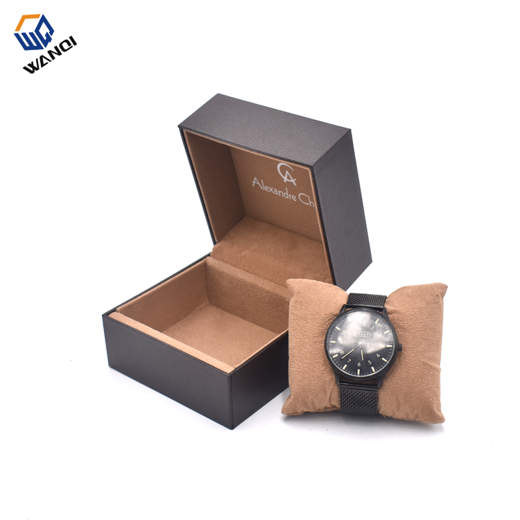 Branded luxury design  personalized brown plastic watch box